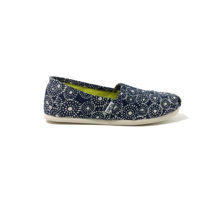 Chaussures TOMS Femme Pois Shibori Marine. VEGAN One for One