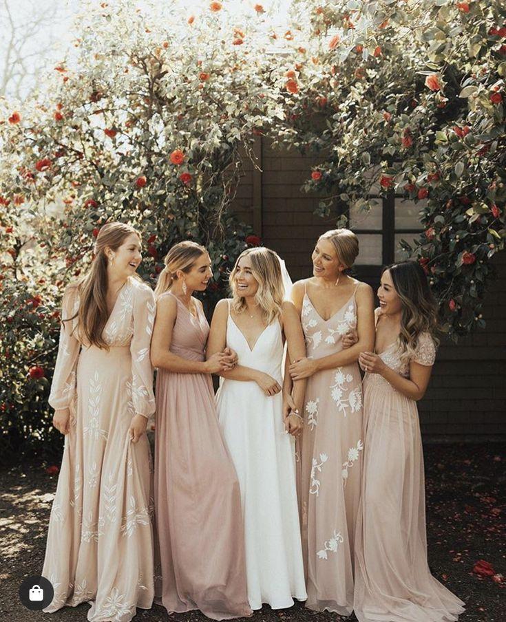 Blush Boho Bridesmaid Dresses Rose Bridesmaid Dresses Wedding Bridesmaid Dresses Blush Bridesmaid Dresses