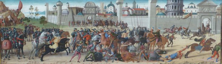 Biagio d'Antonio : The Siege of Troy (Fitzwilliam Museum - University of Cambridge  (United Kingdom - Cambridge)) 1446-1516 ビアージョ・ダントニオ