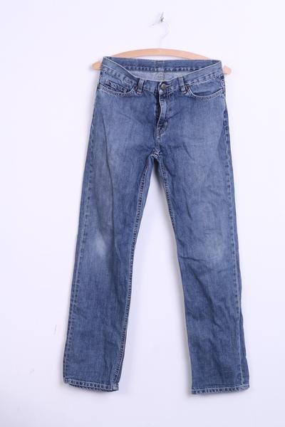Lacoste Womens 14 S Trousers Denim Jeans Blue Cotton - RetrospectClothes