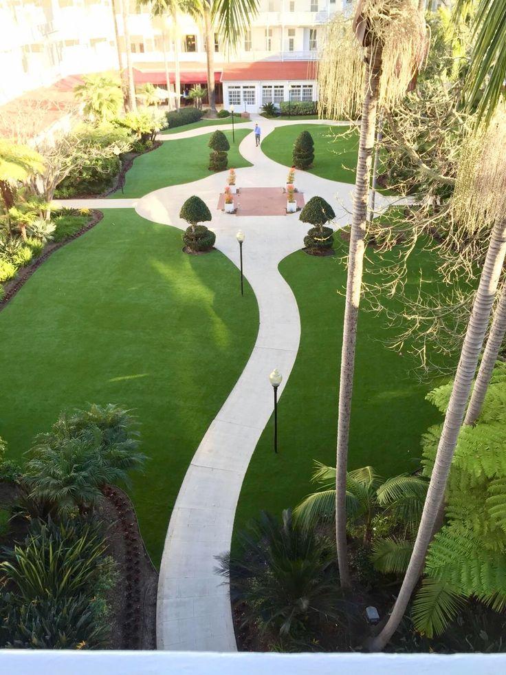 900 SF Artificial Turf Installation at the World Famous Hotel Del Coronado
