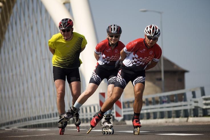 Ciclovia - rolkarze na moście | #Ciclovia - rollerbladers on a viaduct | #rollerblader #gdansk