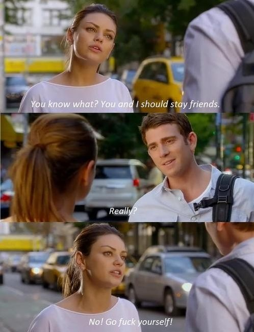 Love her. and this movie.: Movies Quotes, Life, Mila Kunis, Friends With Benefits, Funny, Humor, Favorite Movie, Favorit Movies, Funnies Stuff