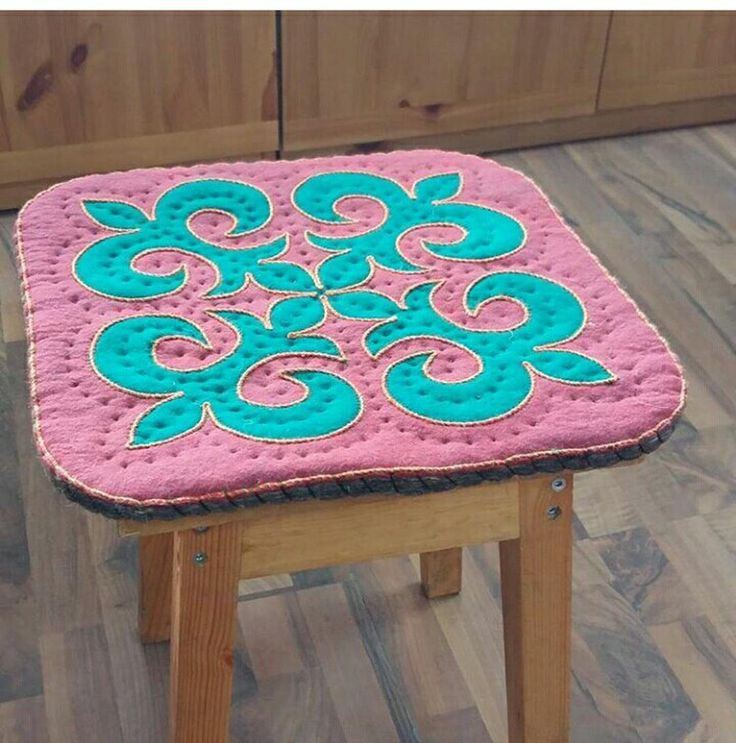 Felt wool pads shyrdak rug central asian rug felt table mats by CentralAsianBazaar on Etsy