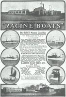 Racine Boat Plant 1908 Ad Picture