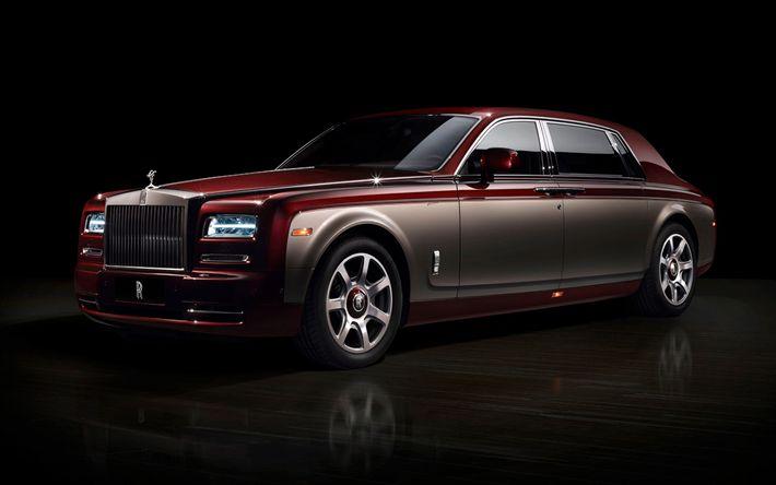 Télécharger fonds d'écran Rolls-Royce Phantom, Pinnacle Voyage, voiture de Luxe, voitures anglaises, limousine, Rolls-Royce