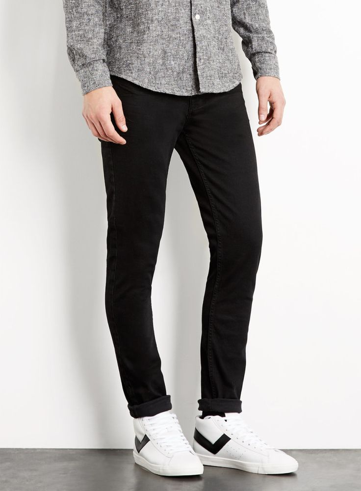 Black Stretch Skinny Jeans Men