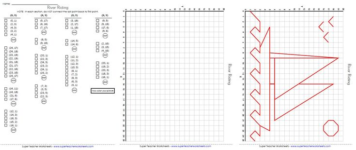 Practice plotting ordered pairs on a coordinate grid to ...