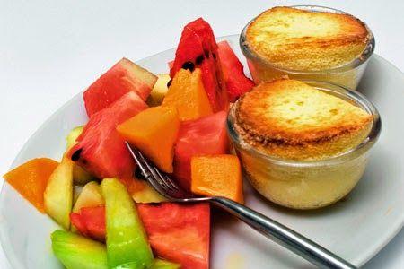 Σουφλέ τυριού με καρπούζι και πεπόνι... Η ΔΙΑΔΡΟΜΗ ®
