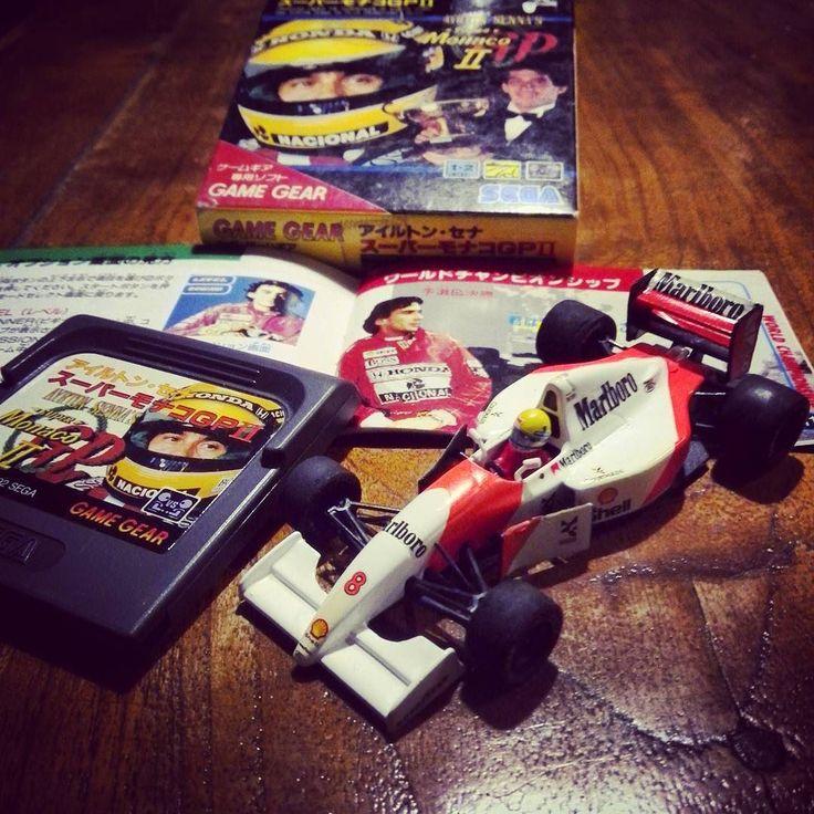 gbg_1992: 本体無いのにソフトだけ買っちゃいましたアイルトンセナ スーパーモナコGP2 GAME GEAR #sega #gamegear #monaco #senna #mclaren #marlboro #ford #gamegear #microobbit