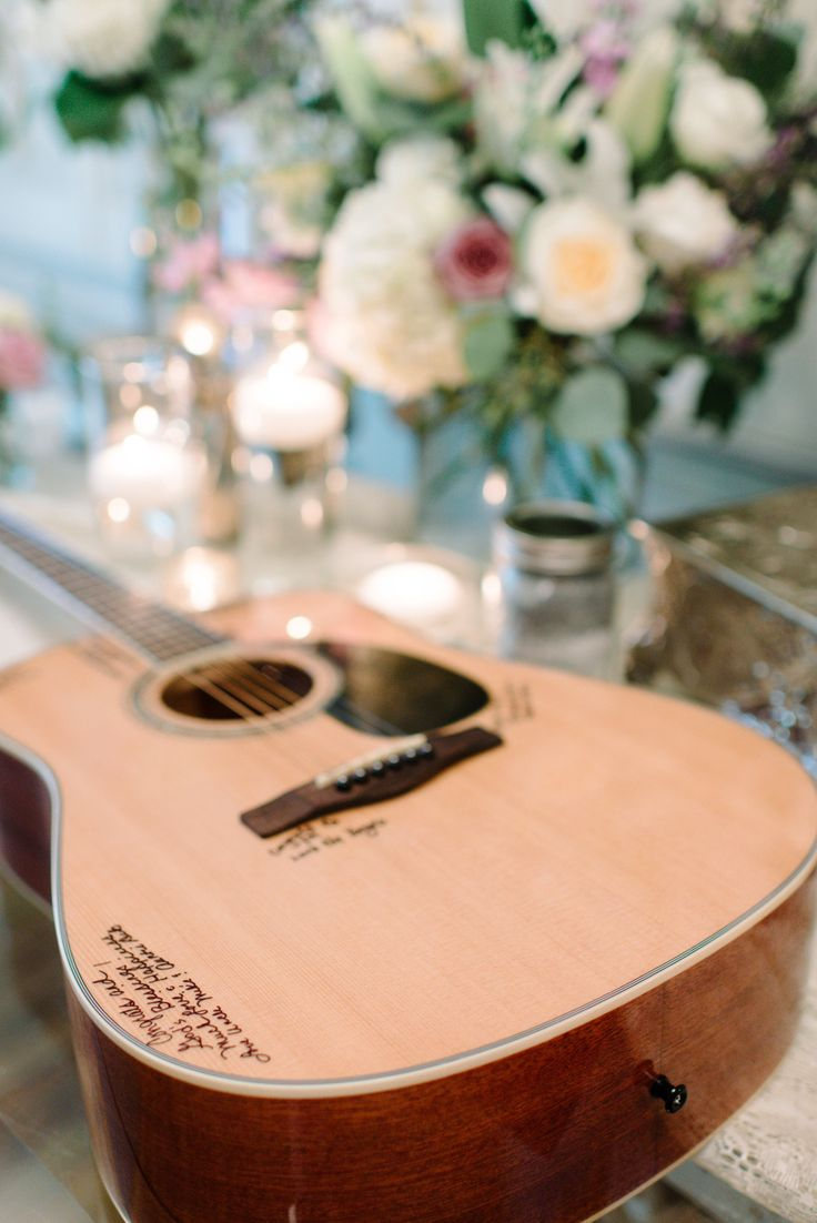 Guest Book Alternative | Guitar | On SMP: |http://www.stylemepretty.com/2013/11/13/nashville-wedding-from-michelle-lange-photography |  Photography: Michelle Lange Photography