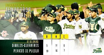 Ciudad de México a 7 de Enero del 2017.- Pericos (1-0) ganó el primer juego de la serie final de la Liga Invernal Mexicana ante el combinad...