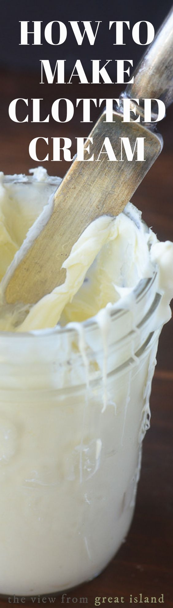 Homemade Clotted Cream ~ this luxurious and hard to find staple of afternoon tea can be made easily right in your own kitchen!   British   Afternoon Tea   Devon Cream   Scones  