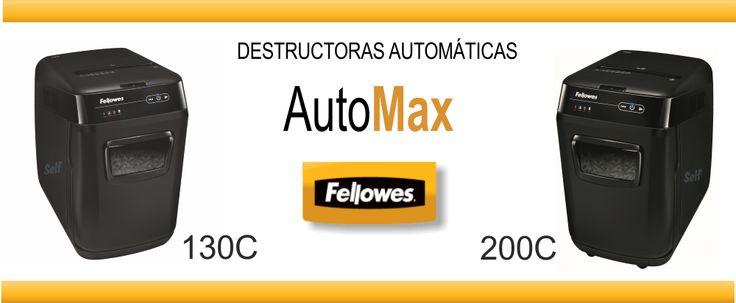 Nuevas destructoras de papel Fellowes Automax 130C y 200C http://www.selfpaper.com/visual/destructoras-automaticas.html http://www.selfpaper.com/visual/destructora-de-papel-fellowes.html