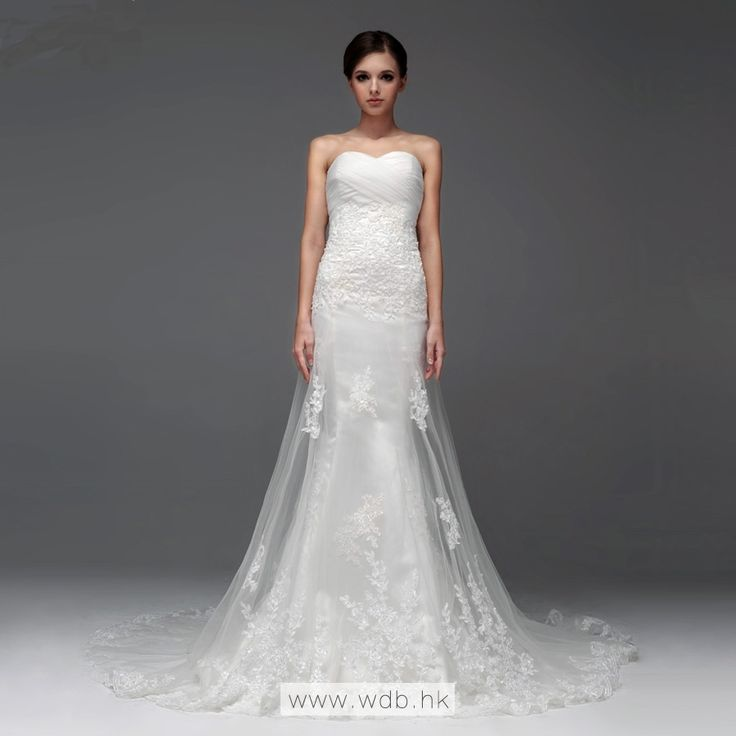 Elegant Sleeveless with Dropped waist wedding dress $328.98