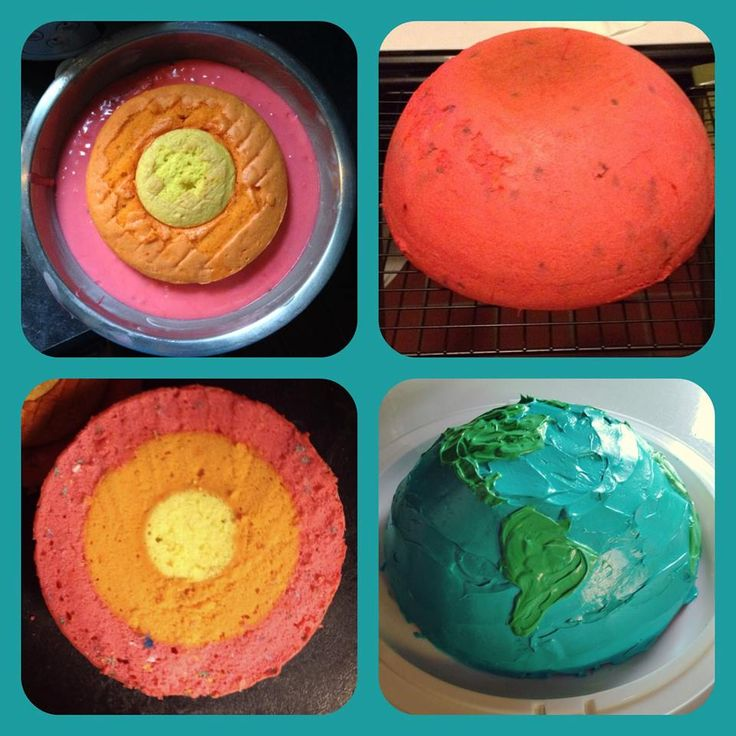 #manikinhead #food A cake model of the Earth and all it's glorious layers