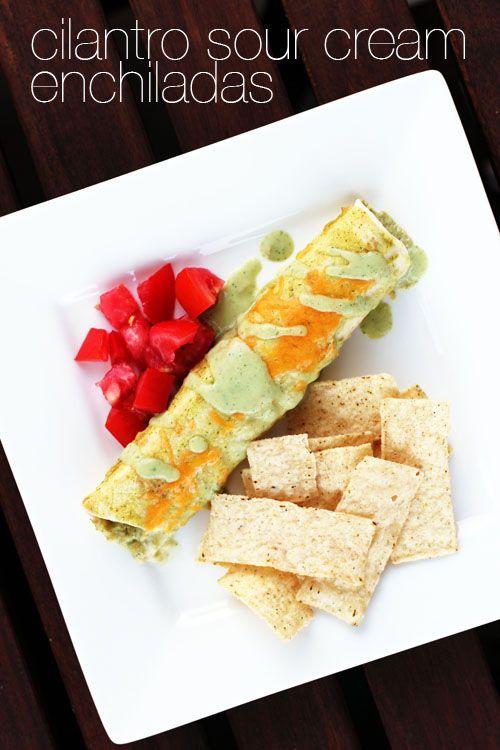 .com Cilantro Sour, Sour Cream Enchiladas, Chicken Enchiladas, Cream ...