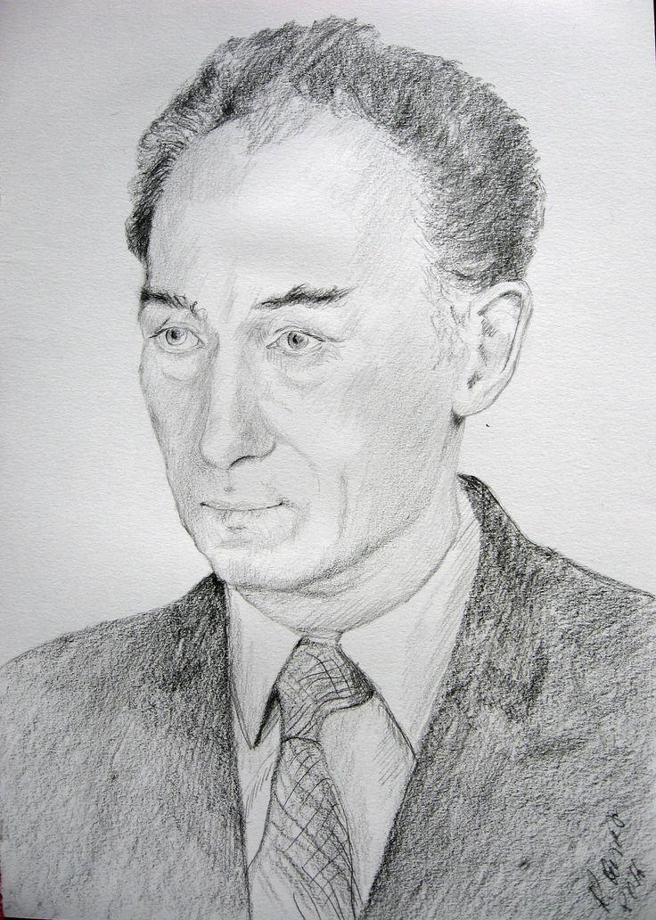 Men's portrait,pencil by Kamila Guzal-Pośrednik