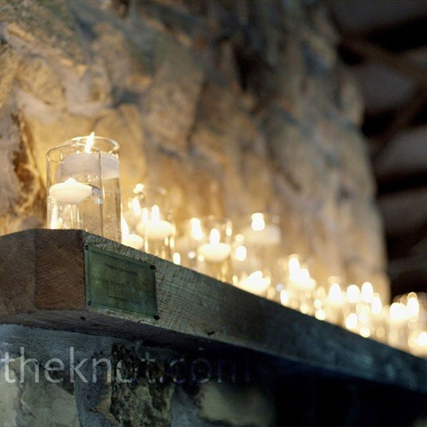 Tribute Dinner in Terrace Room- Window ledges will be filled with assorted floating candles, pillars, and votives