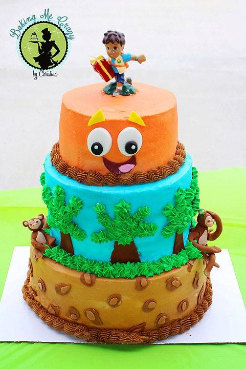 - *Diego cake. Buttercream and fondant accents.