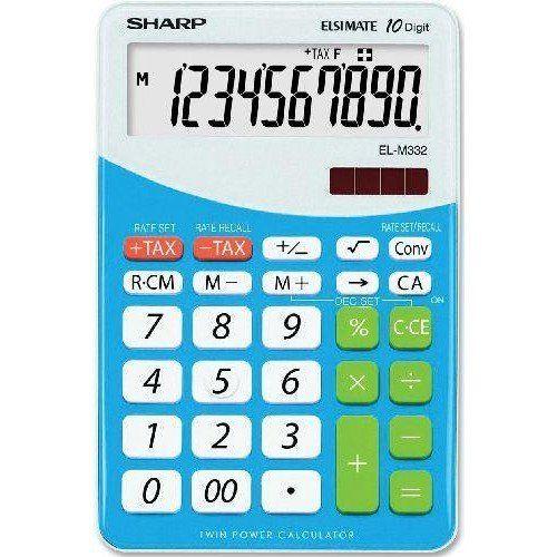 #Sharp #Elsi #Mate #EL-M332B-BL asztali #számológép #10_számjegyes - #Kék - #Számológépek