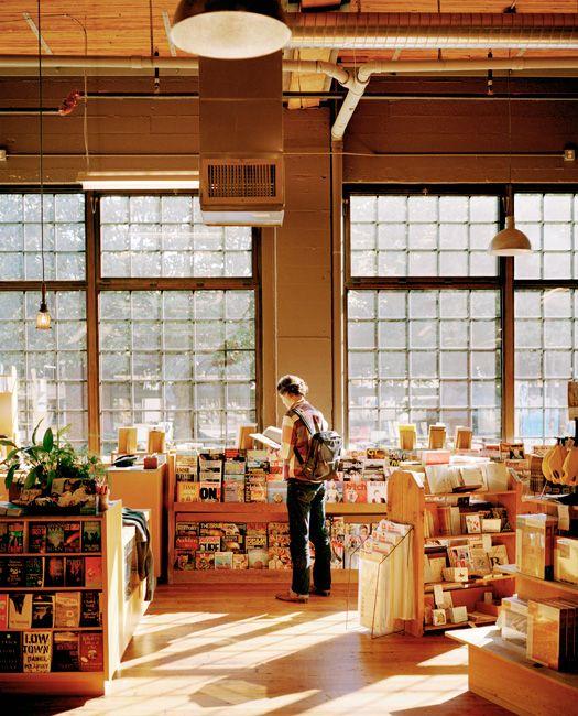 Beautiful light at The Elliott Bay Book Company - Seattle
