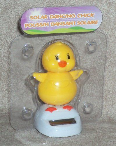 Vendita caldo Bella Solar Powered Danza Chick Bambini Giocattolo Solare Auto Manufatti Per L'arredamento Giallo