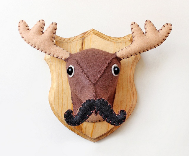 Monsieur Mustache, Faux Taxidermy