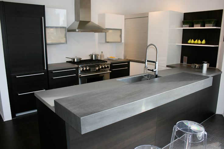 NEOLITH Countertop (Basalt Grey model). 100% natural, hygienic, lightweight, waterproof, eco-friendly, durable and easy to clean.