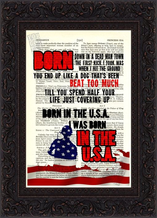 Hey, I found this really awesome Etsy listing at http://www.etsy.com/listing/97224465/bruce-springsteen-born-in-the-usa-song