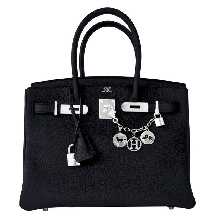 Hermes Birkin Bag 30cm Black Togo Palladium Hardware Image 1
