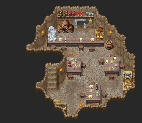 rpg maker inn located in a desert cave by ChampGaming