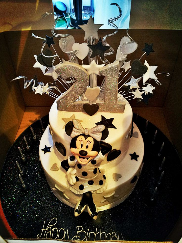 I REALLY WANT THIS CAKE!! :) Disney Minnie Mouse 21st Birthday Cake