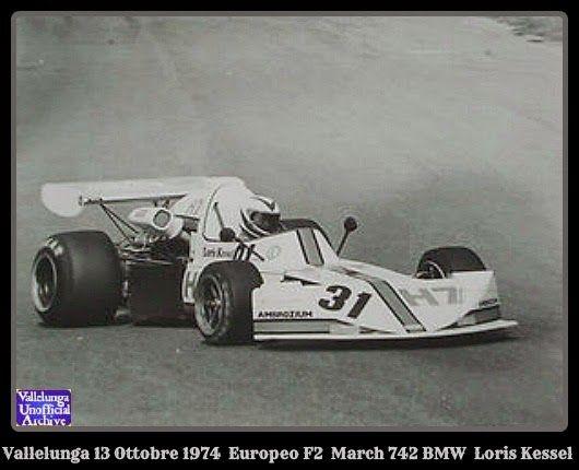 Loris Kessel - March 742 BMW - Team Vonlanthen - XXIV Gran Premio di Roma 1974