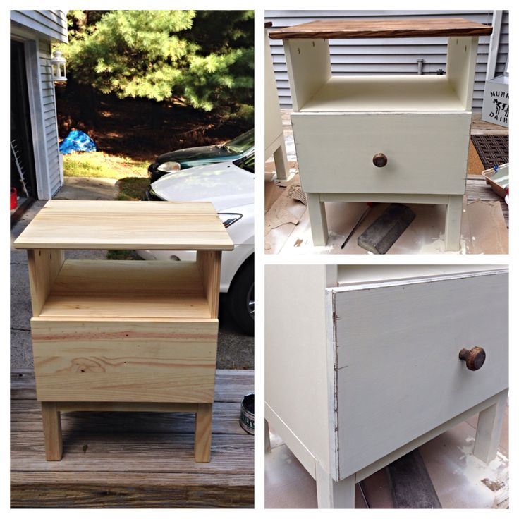 Ikea tarva nightstand hack before after my diy for Ikea nightstand shelf