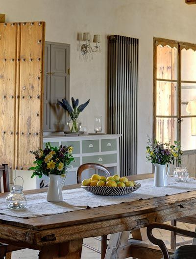 The rustic kitchen at Casa La Siesta, a charming converted farmhouse in Andalucia, #Spain #travel #boutique #rustic