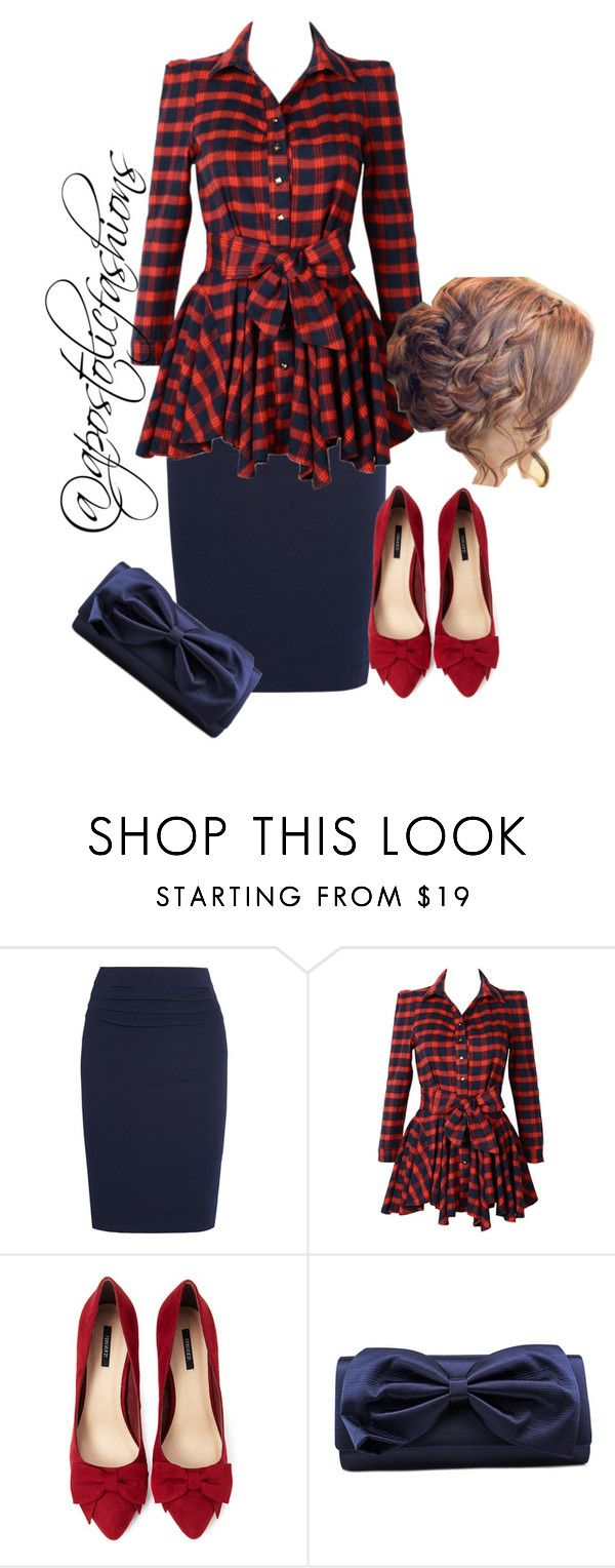 """""""Apostolic Fashions #1094"""" by apostolicfashions ❤ liked on Polyvore featuring Donna Karan, Forever 21 and La Regale"""