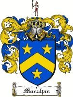 Monahan Coat of Arms / Monahan Family Crest www.4crests.com #coatofarms #familycrest #familycrests #coatsofarms #heraldry #family #genealogy #familyreunion #names #history #medieval #codeofarms #familyshield #shield #crest #clan #badge #geneology #tattoo