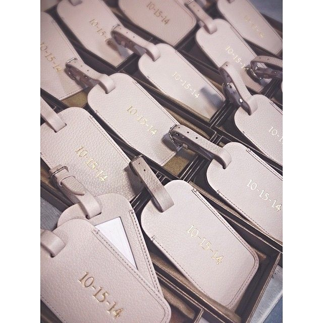 Monogrammed Leather Luggage Tags | 'Save the Dates' for Destination Weddings | Leatherology