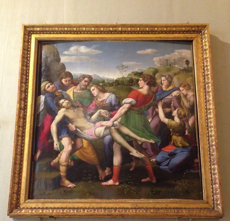 Vrijdag 9 oktober Op dit schilderij is afgebeeld hoe Jezus van het kruis is gehaald. Achter hem zie je een paar engelen die hem beet houden.