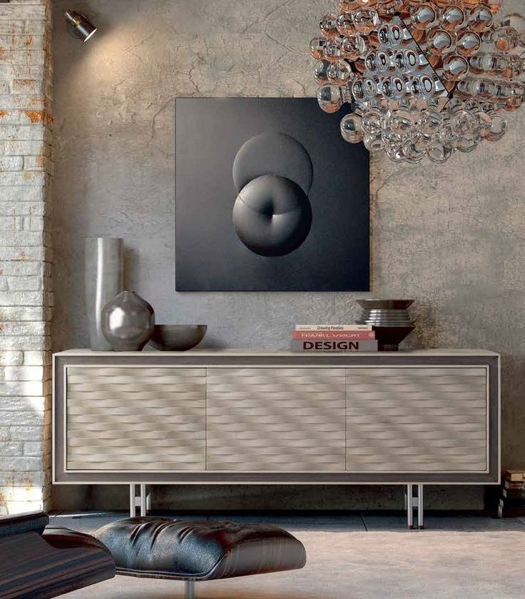 Perfect vingette - Wooden sideboard with doors A-612 by Dale Italia   Arbet Design