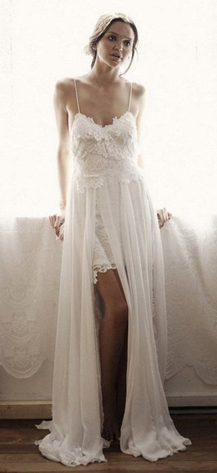 Cute Spaghetti Straps Wedding Dress Perfect For A Beach Or Garden More At