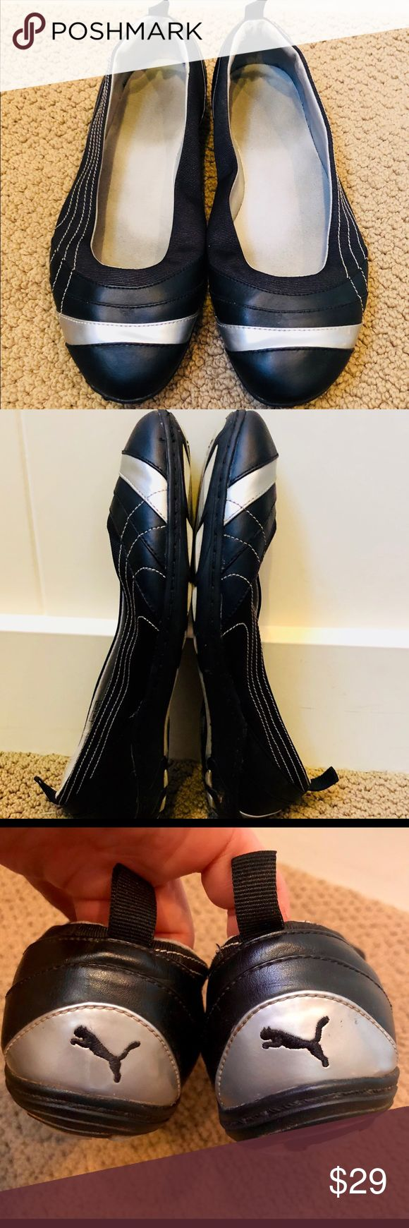 Comfortable Puma flats in great condition! Sz 8.5W Comfortable Puma flats in great condition! Sz 8.5W. Only worn a few times Puma Shoes Flats & Loafers