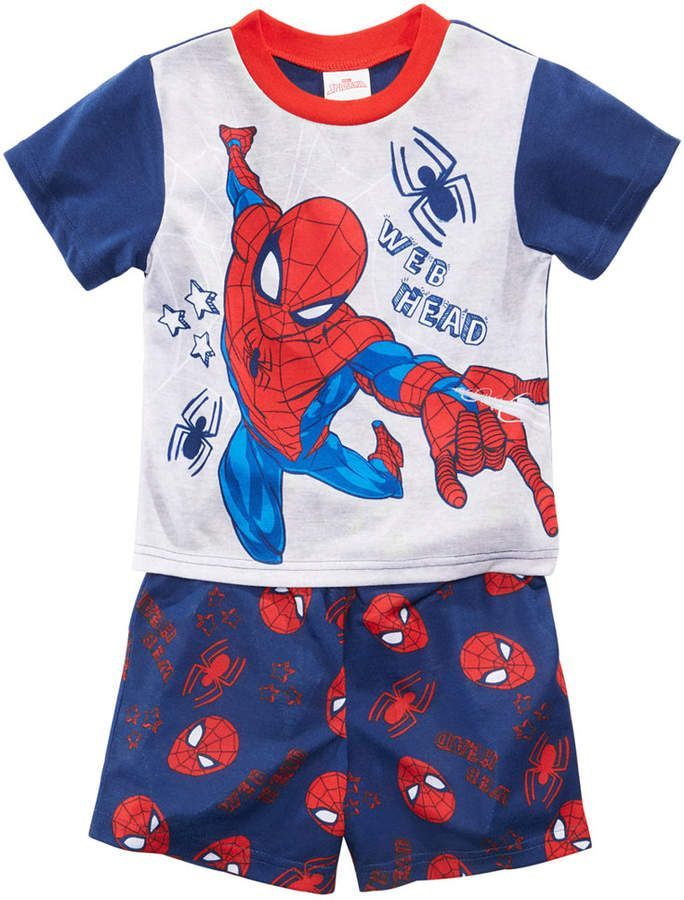 88cd2c2868 Spiderman Marvel s 2-Pc. Graphic-Print Pajama Set