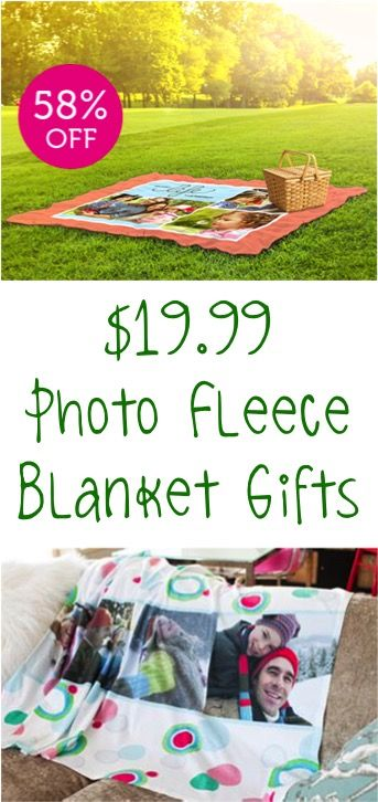 Photo Fleece Blankets! These make the BEST personalized, creative Christmas gifts to stash away!