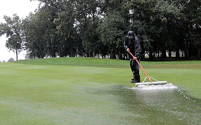 Rain Suspends Final Round of BMW; Play Resumes on September 16th - Jim Furyk will have to wait one more day to try to end three years without a PGA Tour victory. The final round of the BMW Championship was suspended on September 15th, because of steady rain that left too much water on Conway Farms.