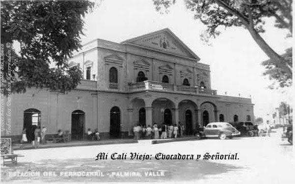 Estación del Ferrocarril de Palmira. Estilo Republicano. Construcción declarada joya arquitectónica de la ciudad. Palmira,1946.