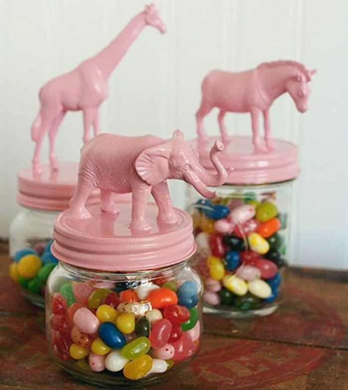 DIY bocal de glace décoré joliment petit cadeau anniversaire remercier vos invités dragees
