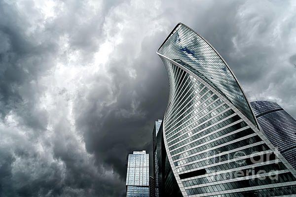 #Moscow city and #Storm, #Russia by Anastasy Yarmolovich #AnastasyYarmolovichFineArtPhotography