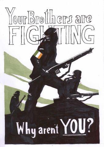 """""""Your Brothers are Fighting. Why aren't you?"""" - Provisional Irish Republican Army (IRA) Conhecido como IRA – iniciais de Exército Republicano Irlandês – é um grupo paramilitar católico que luta conta a separação do Reino Unido e integração da Irlanda do Norte com a Irlanda. O IRA depôs as armas em 2 005. Apesar disso, existem atualmente duas versões do grupo original: o da Continuidade e o Ira Real que eventualmente promove atentados na Irlanda do Norte. Sinn Fein (expressão em gaélico cujo…"""